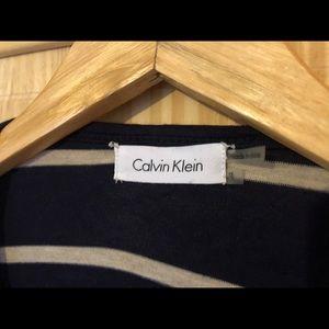 Calvin Klein Wrap Dress-navy and beige